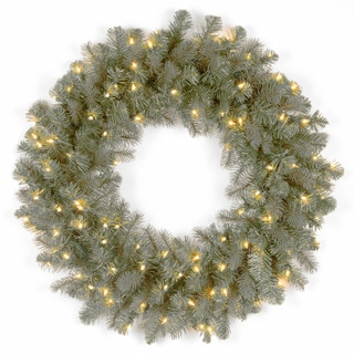 24-inch Frasier Grande Wreath with Clear Lights