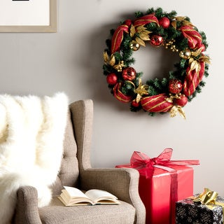 24-inch Wreath with 50 Clear Lights