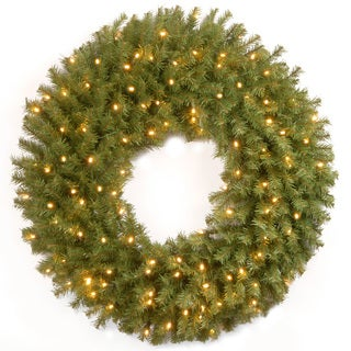 24-inch Norwood Fir Wreath with Multicolor LED Lights