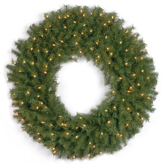 36-inch Norwood Fir Wreath with Multicolor Lights