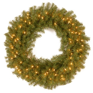 '30' Norwood Fir Wreath with 100 Clear Lights-UL