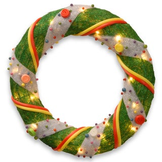 20-inch Norwood Fir Wreath with Clear Lights