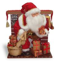 28-inch Fireplace with Plush Santa