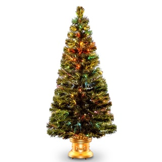 60-inch Fiber Optic Radiance Fireworks Tree with Top Star Gold Base
