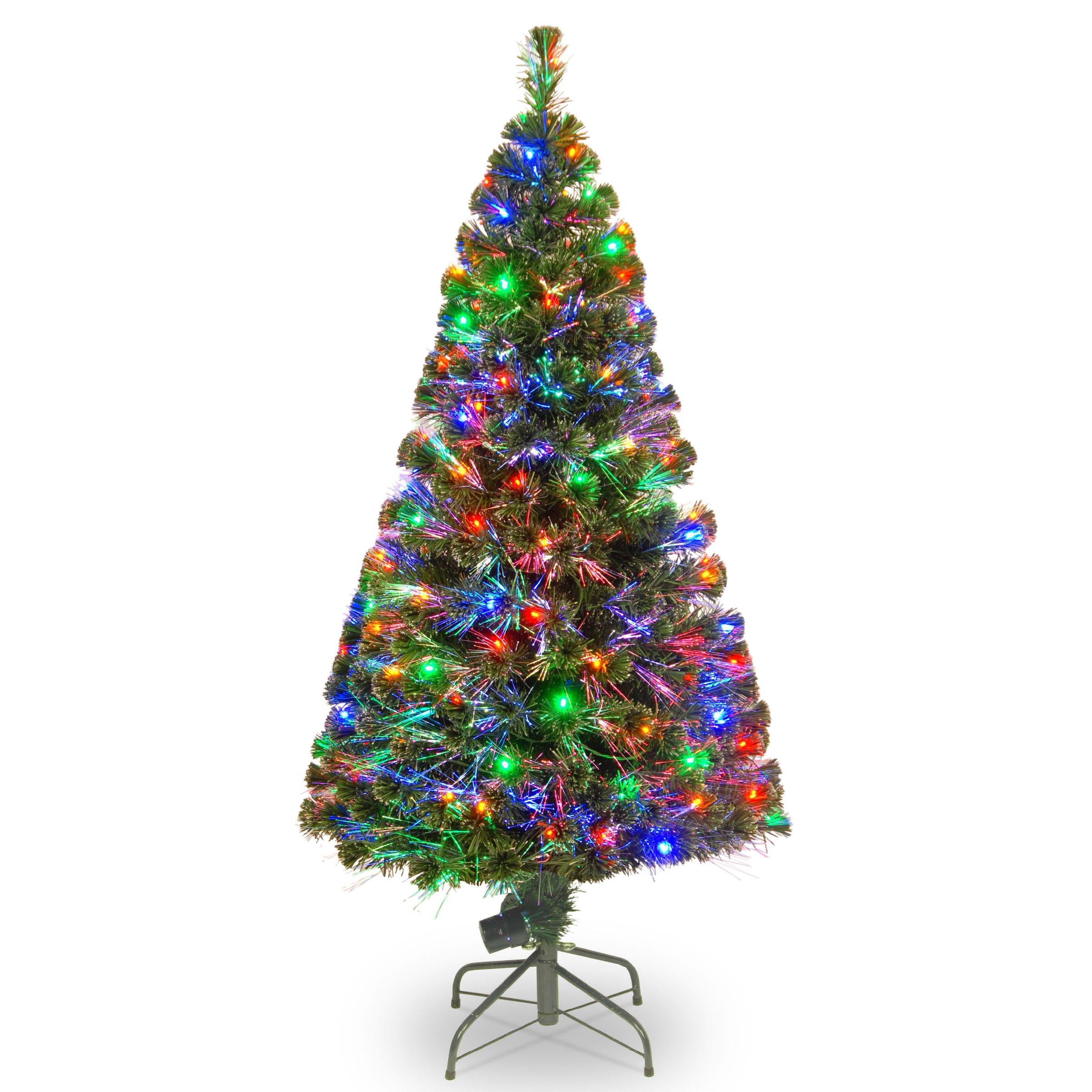 National Tree 60-inch Fiber Optic Evergreen Tree with 150...