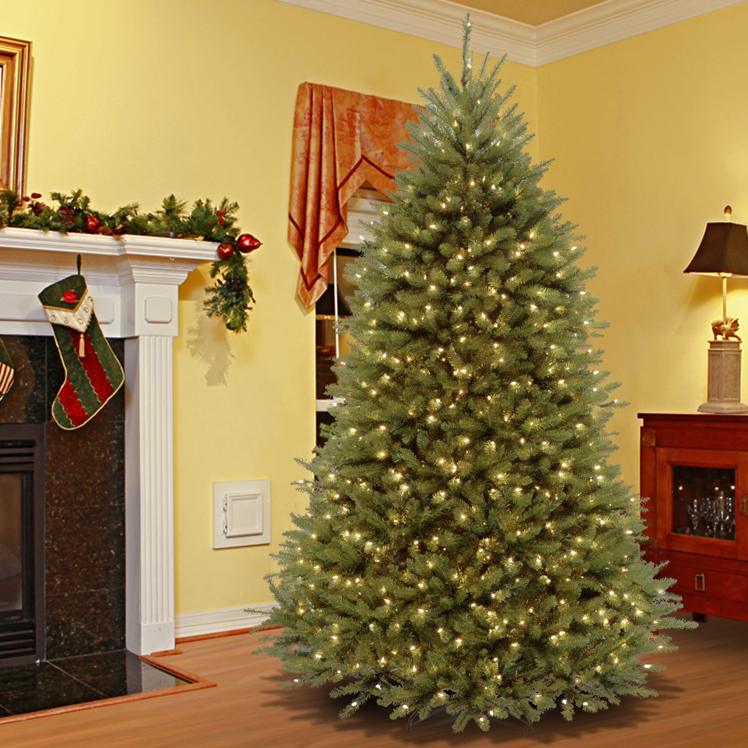 National Tree 7.5-foot Dunhill Fir Hinged Tree with 700 L...