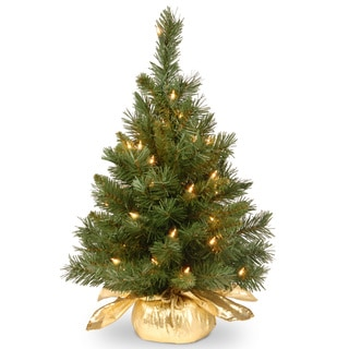 24-inch Majestic Fir Tree in Gold Cloth Bag
