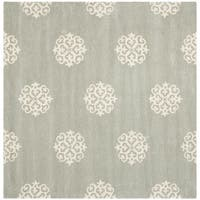 Safavieh Handmade Soho Grey/ Ivory Wool Rug - 4' Square