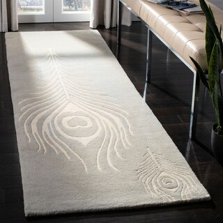 Safavieh Hand-Tufted Soho Grey/ Ivory Wool/ Viscose Rug (2'6 x 12')