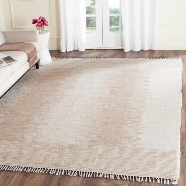 Safavieh Hand-woven Montauk Beige Cotton Rug - 9' x 12'