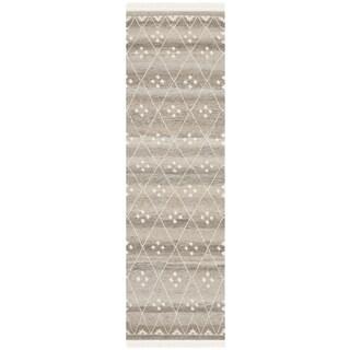 Safavieh Hand-Woven Natural Kilim Natural/ Ivory Wool Rug (2'3 x 12')