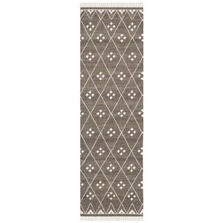 Safavieh Hand-Woven Natural Kilim Brown/ Ivory Wool Rug (2'3 x 12')