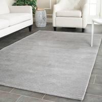 Safavieh Handmade Himalaya Grey Wool Rug - 4' x 4' Square