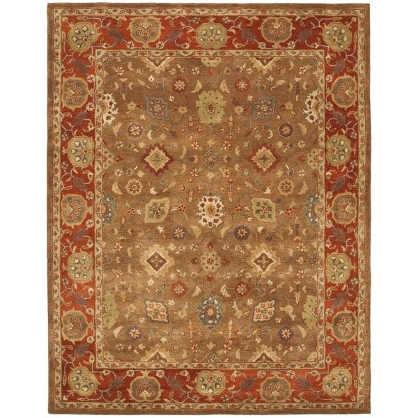 Safavieh Handmade Heritage Timeless Traditional Moss/ Rust Wool Rug (8'3 x 11')