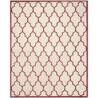 Safavieh Handmade Moroccan Cambridge Ivory/ Rust Wool Rug - 9' x 12'