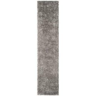 Safavieh Handmade New Orleans Shag Grey Textured Polyester Runner (2'3 x 10')