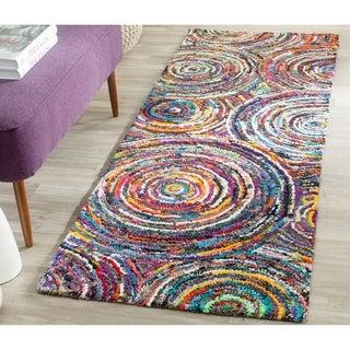 Safavieh Handmade Nantucket Modern Abstract Multicolored Cotton Runner Rug (2' 3 x 10')