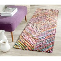 Safavieh Hand-Tufted Nantucket Multi Cotton Rug - 2'3 x 10'