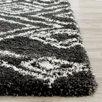 Safavieh Belize Shag Charcoal/ Ivory Moroccan Area Rug - 3' x 5'