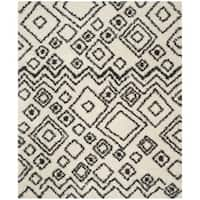 Safavieh Belize Shag Ivory/ Charcoal Moroccan Area Rug - 3' x 5'
