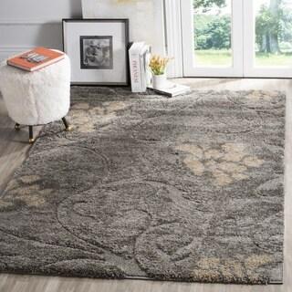 Safavieh Florida Shag Grey / Beige Area Rug (3'3 x 5'3)