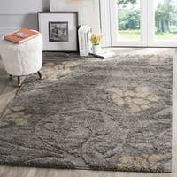 "Safavieh Florida Shag Grey / Beige Area Rug - 3'3"" x 5'3"""
