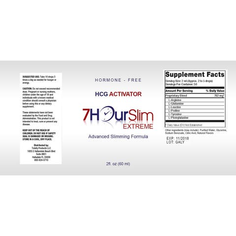 Totally Products 7 Hour Slim HCG Activator 2-ounce Advanced Slimming Supplement