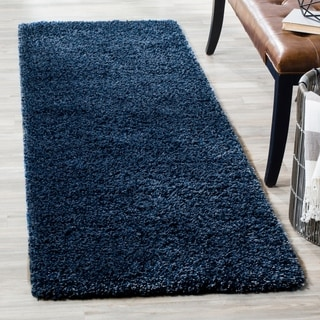 Safavieh California Cozy Plush Navy Shag Rug (2'3 x 9')