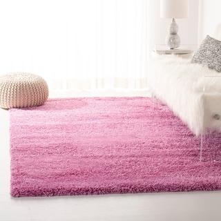 Safavieh California Cozy Solid Pink Shag Rug (3' x 5')