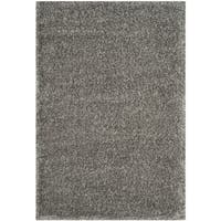 Safavieh Charlotte Shag Grey Plush Polyester Rug - 8' x 10'