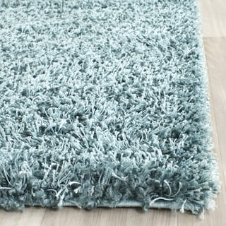 Safavieh New York Shag Turquoise Blue Rug (2'3 x 8')