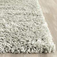 Safavieh New York Shag Sage Green/ Ivory Rug - 2'3 x 8'