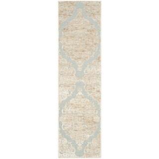 Safavieh Paradise Stone/ Aqua Viscose Rug (2'2 x 8')