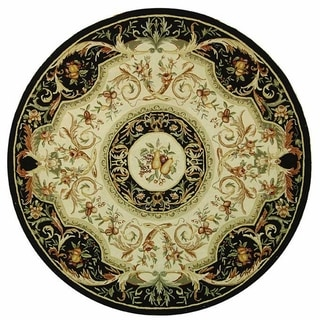 Safavieh Hand-hooked Chelsea Crysta Country Oriental Wool Rug (3 x 3 Round - Black)