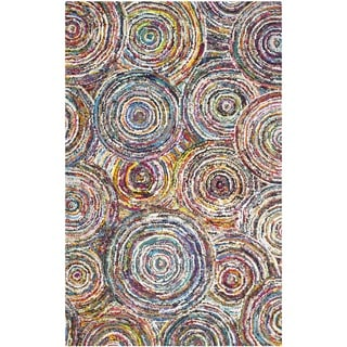 Safavieh Handmade Nantucket Modern Abstract Multicolored Cotton Rug (8' x 10')