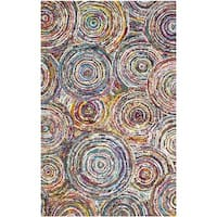 Safavieh Handmade Nantucket Modern Abstract Multicolored Cotton Rug - multi - 8' x 10'