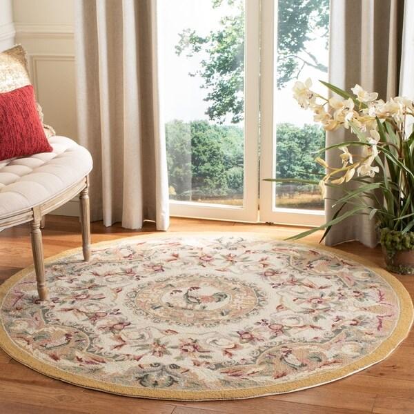 Safavieh Hand-hooked Chelsea Taupe Wool Rug - 3' x 3' Round