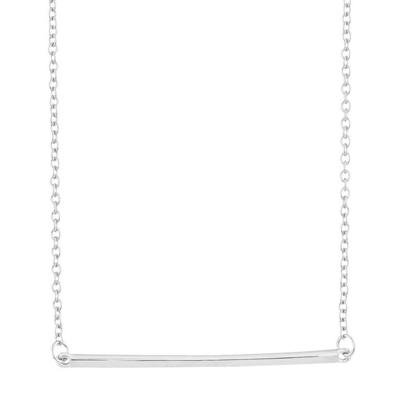 La Preciosa Sterling Silver Horizontal Bar Necklace