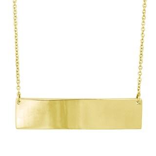 La Preciosa Goldplated Sterling Silver Flat Bar Necklace