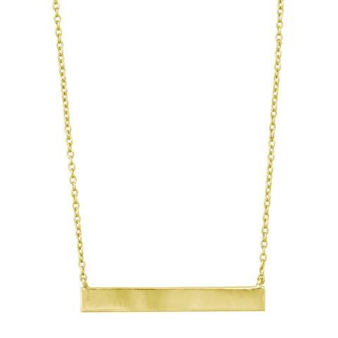 La Preciosa Sterling Silver Flat Bar Necklace