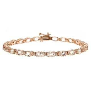 Anika and August 14k Rose Gold Morganite 5/9ct TDW Diamond Bracelet (G-H, I1-I2)
