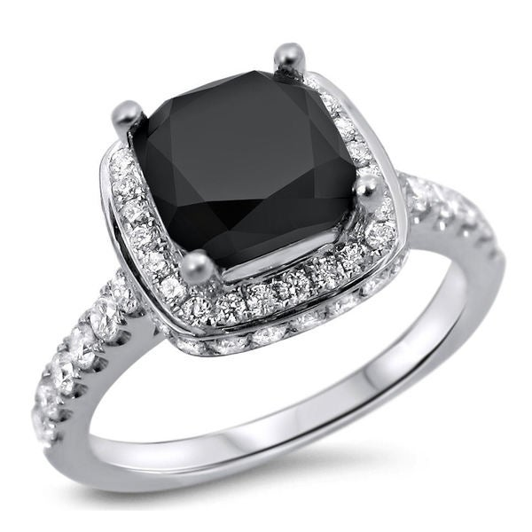 Shop Noori 18k White Gold 2 1 3ct Cushion Cut Black