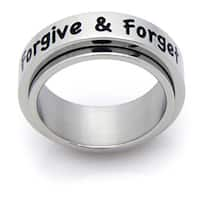 Forgive and Forget Stainless Spinner Ring - White