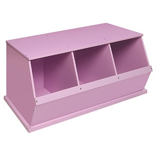 Badger Basket Three Bin Storage Cubby - Lilac