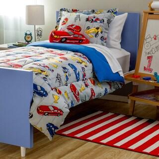 Shop Kids Collection Race Car 4 Piece Comforter Set Free