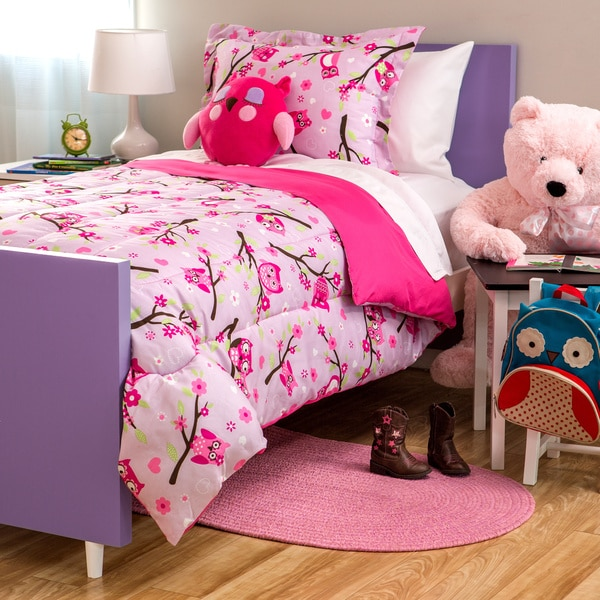 Kids Collection Owl 4-Piece Comforter Set
