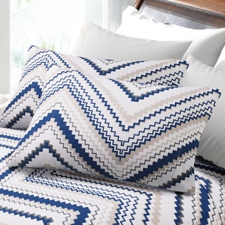 200-GSM Hemstitched Chevron Deep Pocket Flannel Sheet Set