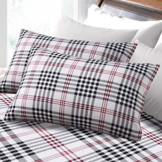 6-ounce Hemstitched Plaid Deep Pocket Flannel Sheet Set|https://ak1.ostkcdn.com/images/products/9578987/P16768298.jpg?impolicy=medium