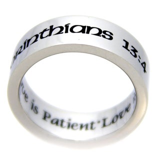 Corinthians Love Is Patient Love Is Kind Stainless Steel Ring