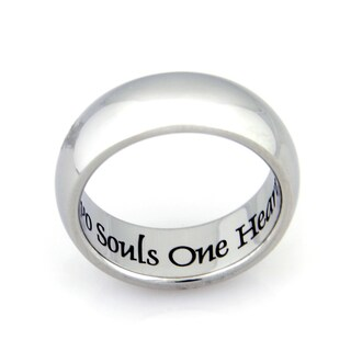 Stainless Steel Two Souls One Heart Ring (More options available)